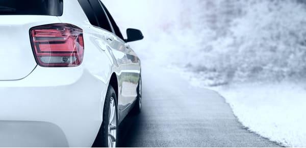 car on winter roads