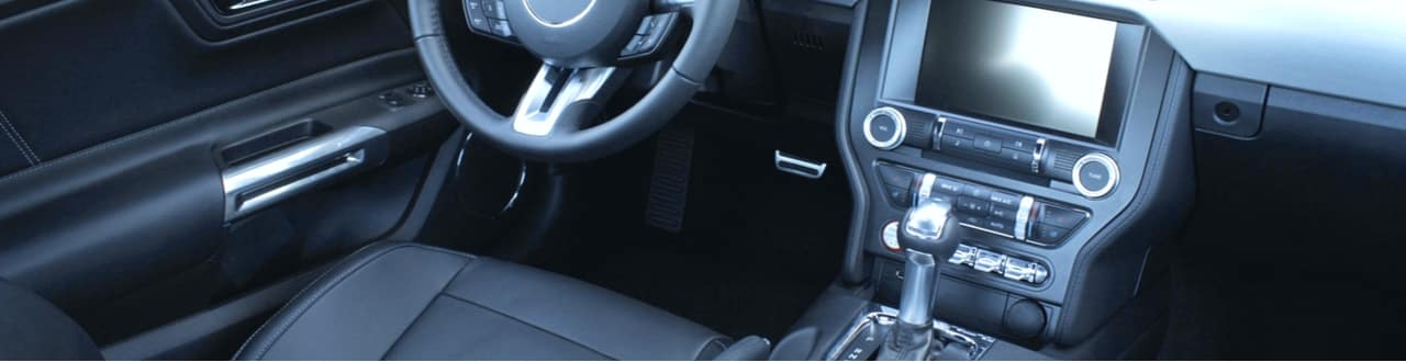 car dash cockpit and audio infotainment system