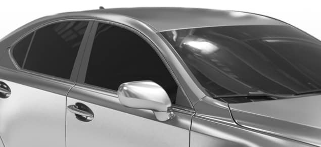 silver car with tinted windows